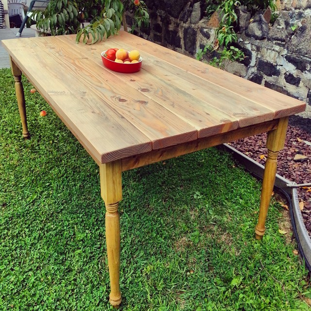 Rustic Farmhouse Dining Table Dining Tables new york by Custom Timber H