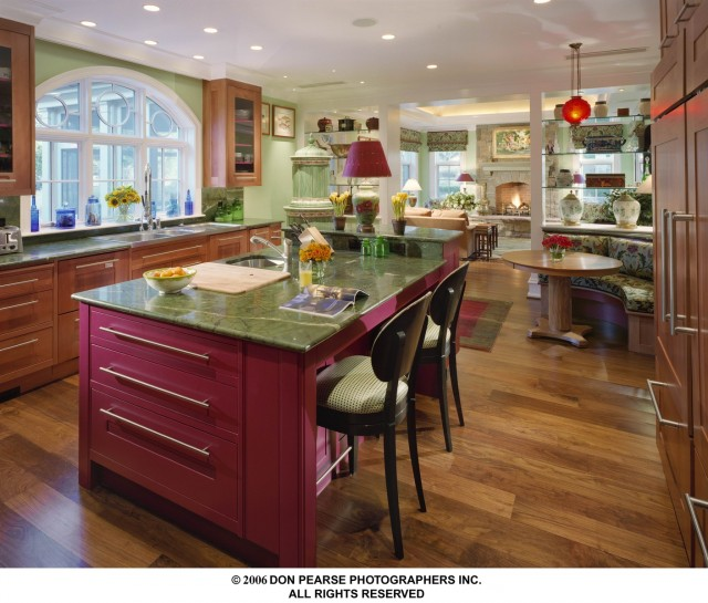 A Rare Pearwood Kitchen by Steepleview Cabinetry