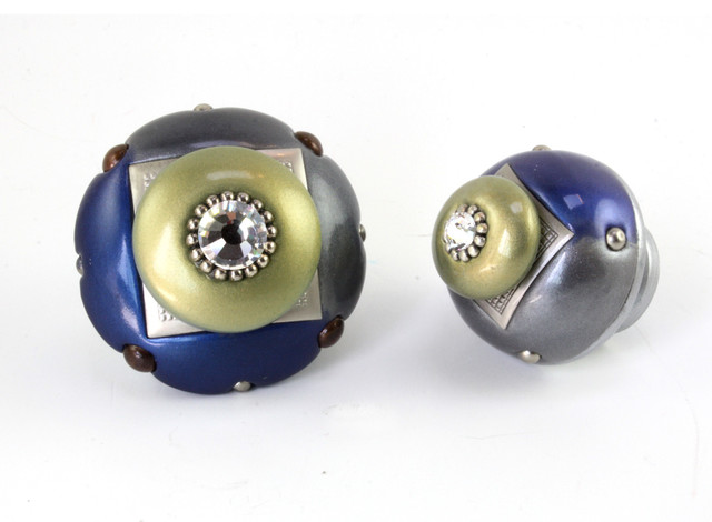 Mini and Nu Duo Cabinet knobs lapis contemporary-cabinet-and-drawer-knobs