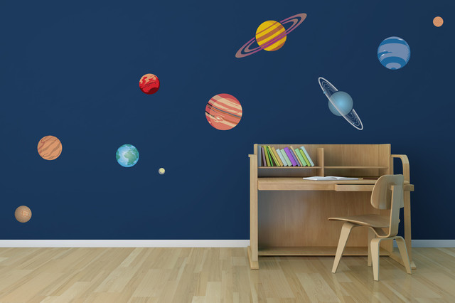 10 Piece Planetary System Printed Matte Removable Vinyl