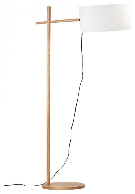 Street Style Super Simple Wood Floor Lamp
