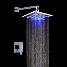 bathroom shower faucets led rainfall shower faucets contemporary