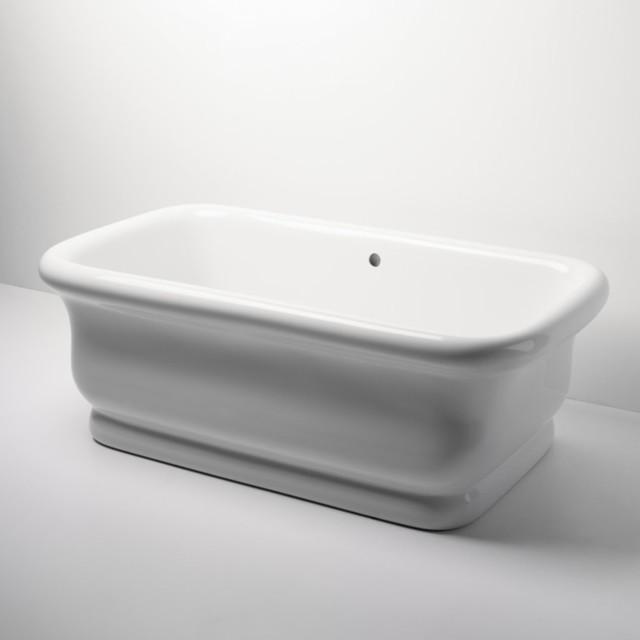 Empire Freestanding Rectangular Bathtub - Traditional - Bathtubs - by ...
