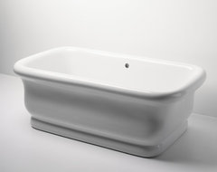 Empire Freestanding Rectangular Bathtub traditional bathtubs