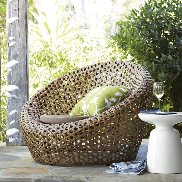 Montauk Nest Chair, Antique Palm modern-outdoor-lounge-chairs