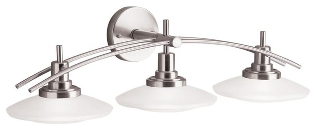 Kichler Lighting Structures Wall Mount Bath 3 Light Halogen Brushed Nickel 6463N - Contemporary ...