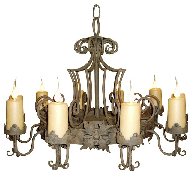 Laura Lee Madrid 9-Light Large Candle Chandelier traditional-chandeliers