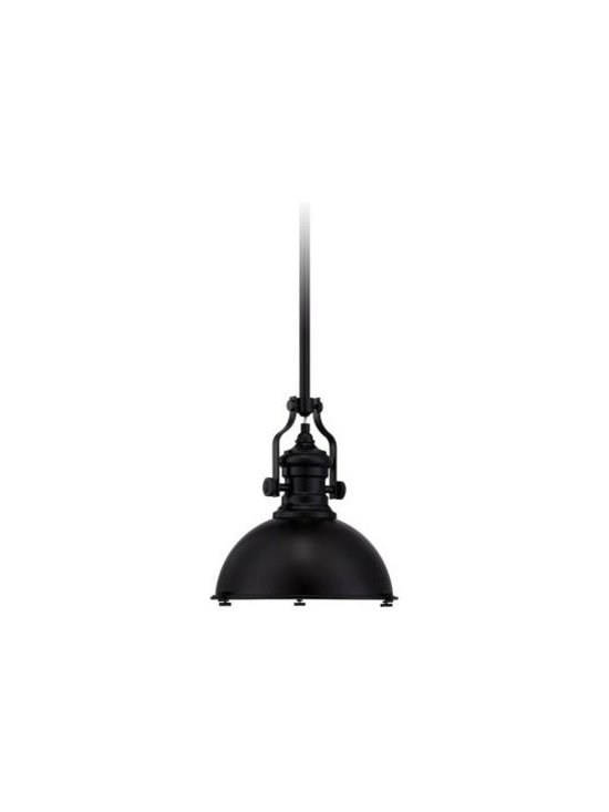 "Possini Euro Enzo 12 1/2"" Wide Black Pendant Light -"