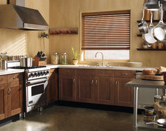 "Levolor 2"" NuWood Faux Wood Blinds contemporary kitchen"