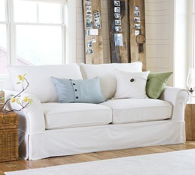 PB Comfort Sofa, Knife-Edge, Down-Blend Wrap Cushions, Twill Camel traditional-sofas