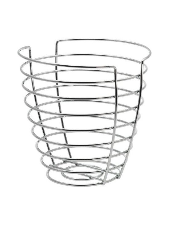 Blomus - WIRES Tall Basket by Blomus - The WIRES Tall Basket by Blomus is a modern household accessory. Use it to hold fruit, dried flowers, or any number of other items you wish to display in a contemporary way. Looks so great you won't want to hide it under the desk. Pair with the WIRES Paper Towel Holder for an appealing look.Blomus, headquartered in Germany, specializes in the design and manufacture of beautifully engineered home and office accessories in modern stainless steel styles.