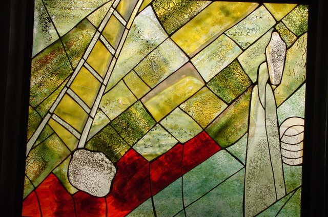 Stained glass artwork - Modern - Artwork - miami - by Galilee Lighting