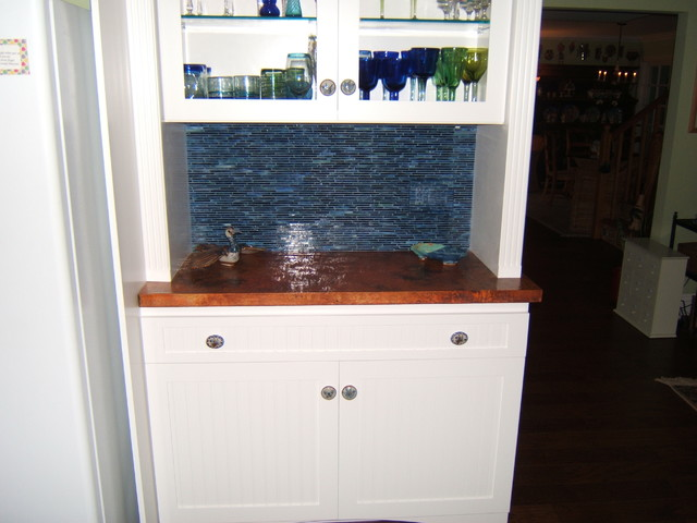 DeWils Painted beverage center cabinets eclectic-kitchen
