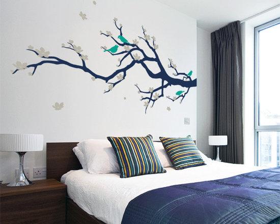 Cherry Blossom Branch with Birds - Original design © 2012 Wall Definition.