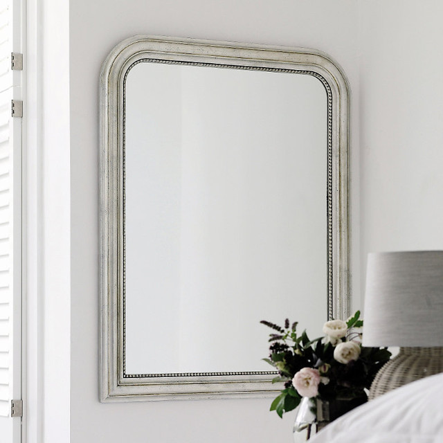 Madison arched wall mirror traditional wall mirrors for Traditional mirror