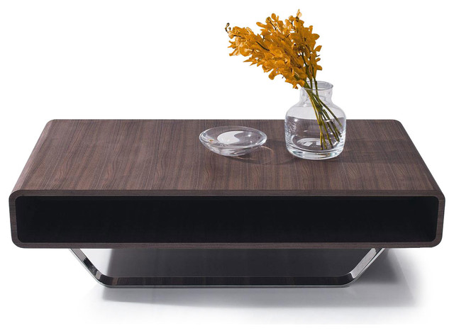 CONTEMPORARY WALNUT VENEER RECTANGULAR COFFEE TABLE OZU Modern Coffee