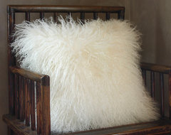 Mongolian Lamb Pillow contemporary-pillows