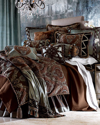 Dian Austin Couture Home Brompton Court Bed Linens Each Brompton Court Curtain, traditional-sheets