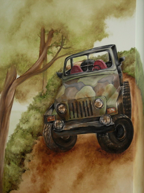 jeep mural traditional kids