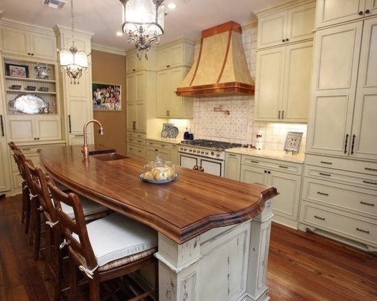 Countertop In New Orleans Traditional Kitchen Islands And Kitchen