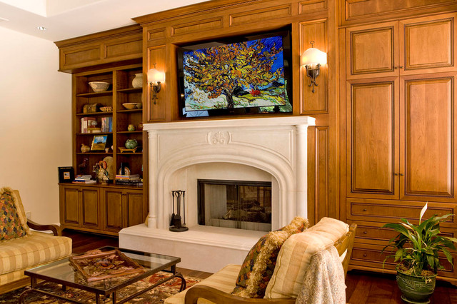 Mediterranean Remix Inspired by Tuscan Pottery traditional-living-room
