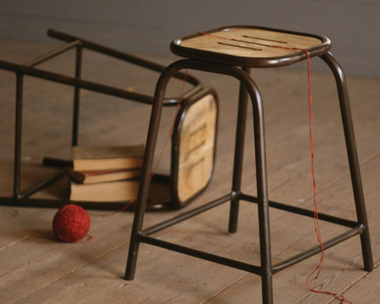 Industrial Teachers Stool - These unique, hand-crafted accessories are imported from small cottage industries in Colombia, Honduras, Haiti, Morocco, and more.