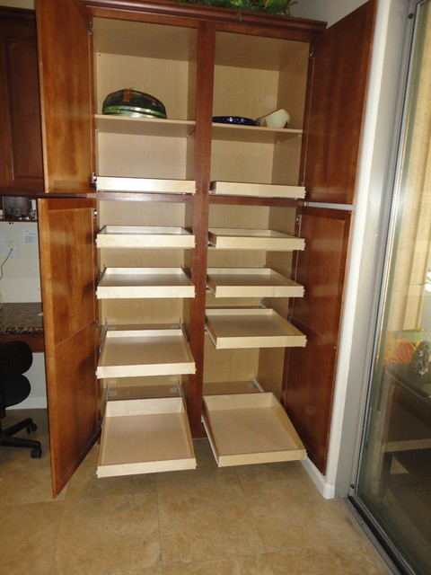 Pantry Pull Out Shelves by slideoutshelvesllc.com - Traditional - phoenix - by Slide Out Shelves LLC