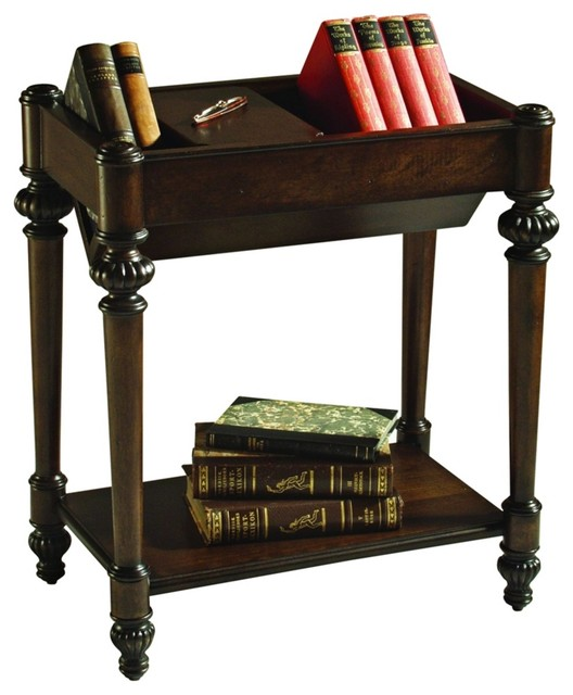 traditional bookshelf top rectangular end table