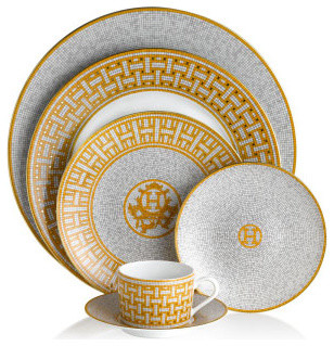 Hermes Mosaique Au 24 Tea Cup contemporary-cups-and-glassware