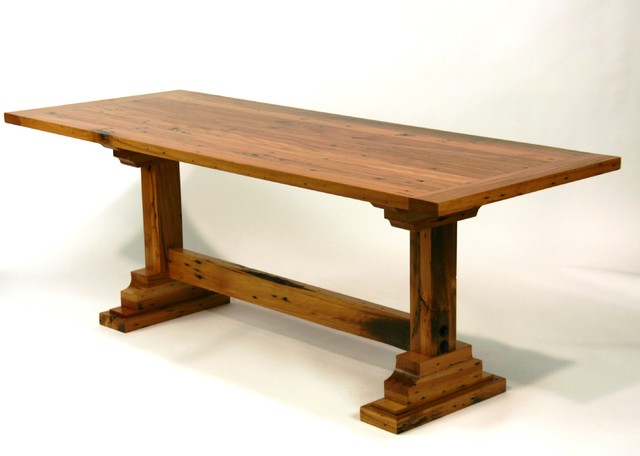 Reclaimed trestle table - dining tables - nashville - by