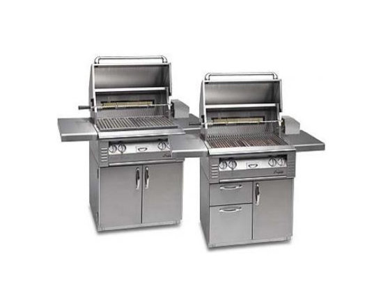 "Alfresco 42"" Standard On-cart Grill, Stainless Steel Natural Gas 