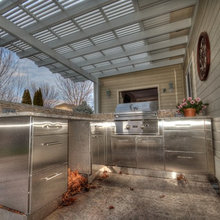 Miller fireplace, kitchen & outdoor kitchen