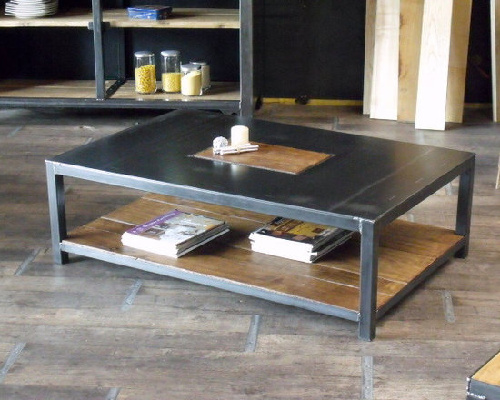 Nos tables basses de style industriel - Table basse bois metal industriel ...