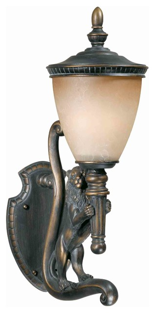 Triarch 75531-14-R Lion Oil Rubbed Bronze Outdoor Wall Sconce eclectic-outdoor-wall-lights-and-sconces