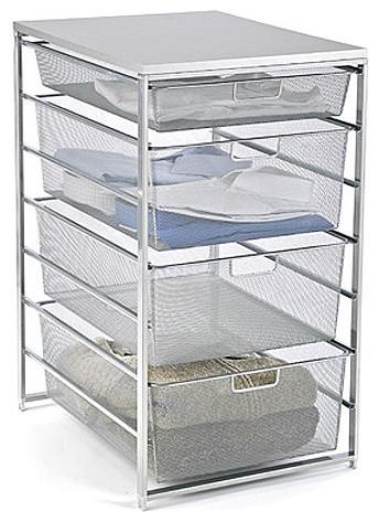 Platinum elfa Mesh Closet Drawers - Modern - Closet Storage - by The Container Store