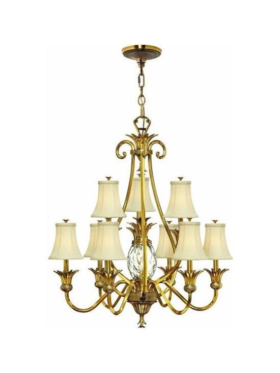 Hinkley Lighting 4887BB 2 Tier 9 Light Chandelier Plantation Collection -