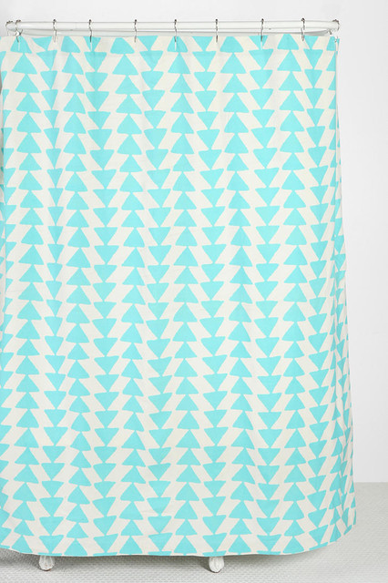 Triangle-Chain Shower Curtain, Sky modern shower curtains