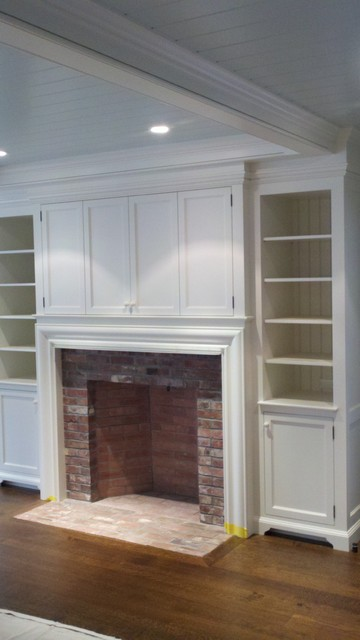 Fireplace millwork - Traditional - Entertainment Centers ...