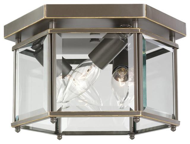 Sea Gull Lighting 7648-782 Bretton Heirloom Bronze Flush Mount transitional-flush-mount-ceiling-lighting