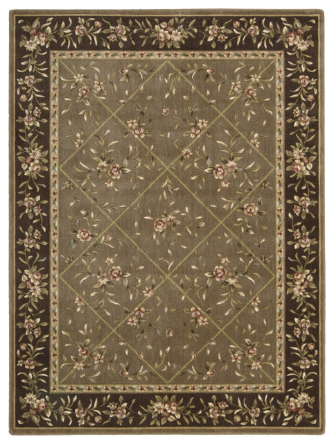 "Nourison Somerset ST57 2' x 5'9"" Mocha Rug contemporary-rugs"