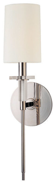 Hudson Valley Lighting 8511-PN Amherst 1 Light Wall Sconces in Polished Nickel transitional-wall-lighting
