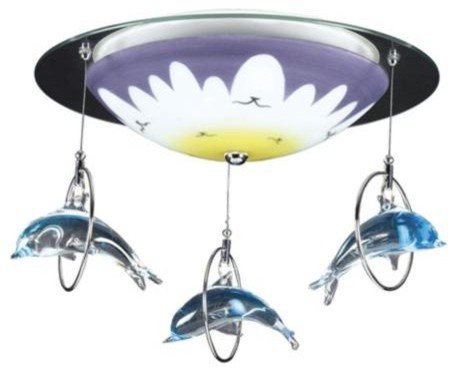 Dolphin Splash Ceiling Light Fixture - eclectic - ceiling lighting