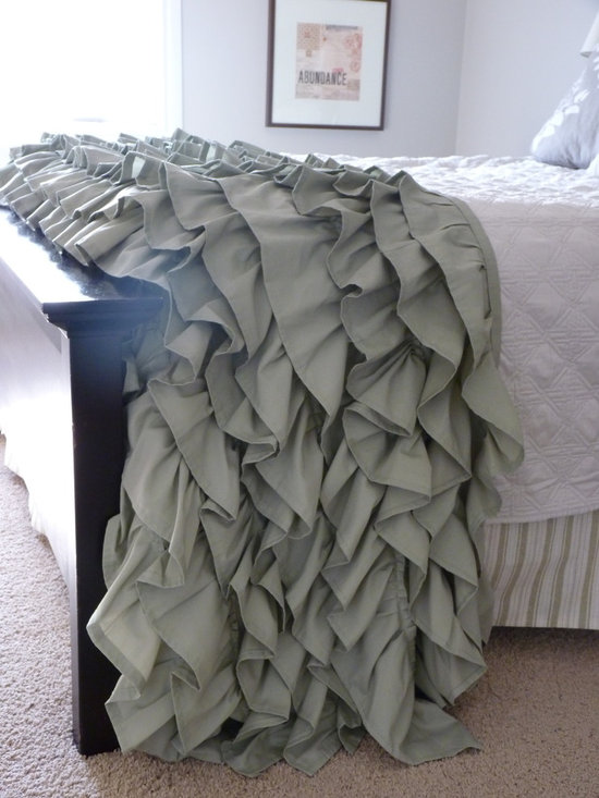 Ruffled Throw - Queen - Custom made in almost any colour, this ruffled throw brings soft elegance and texture to any room.