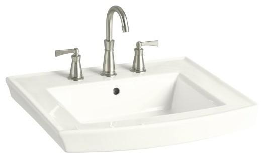Archer Pedestal Sink : KOHLER K-2358-1-0 Archer Pedestal Bathroom Sink with Single Faucet ...