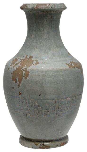 15 Inch Tall Livia Ceramic Vase Rustic Vases