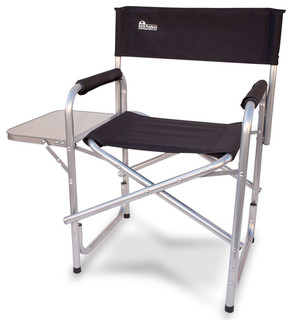 Earth Heavy Duty Folding Director's Chair With Side Table
