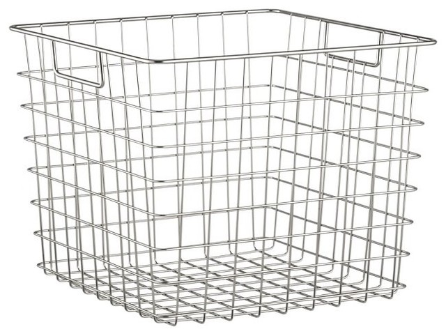 Square Wire Basket contemporary baskets