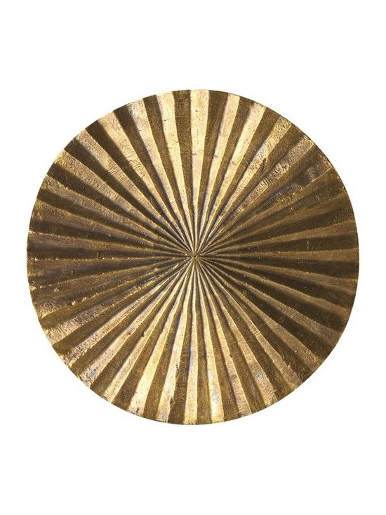 Arteriors Apollo Small Metal/Wood Wall Plaque - Apollo Small Metal/Wood Wall Plaque