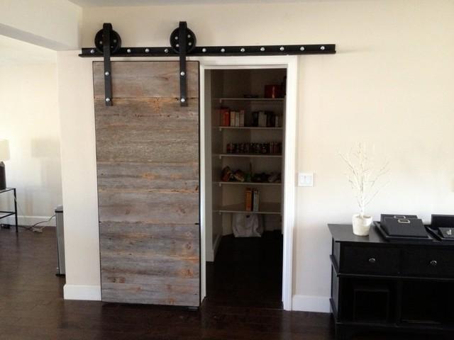Sliding Barn Door - Iowa Gray - Contemporary - Interior Doors - phoenix - by Porter Barn Wood LLC