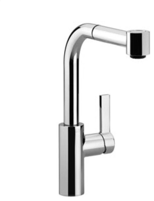 Elio Mixer With Pull Out Spray Collection By Dornbracht Modern Kitchen Faucets Chicago